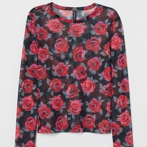 Mesh Top WIth Roses